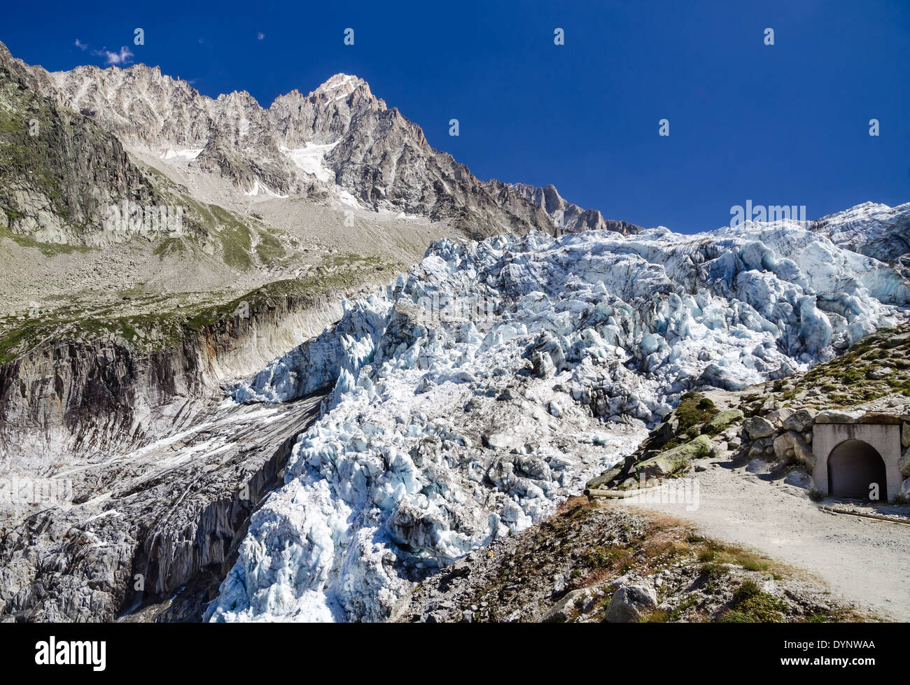 Argentiere Glacier in Chamonix Alps, Mont Blanc Massif, France. - Stock Image