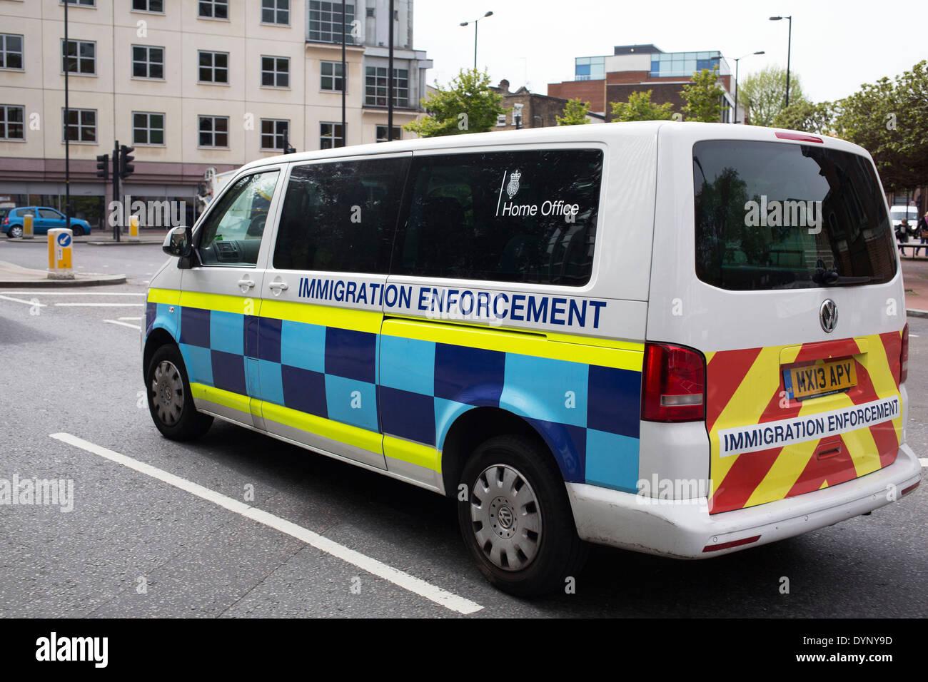 Immigration Enforcement  >> Home Office Immigration Enforcement Van Driving Through South London
