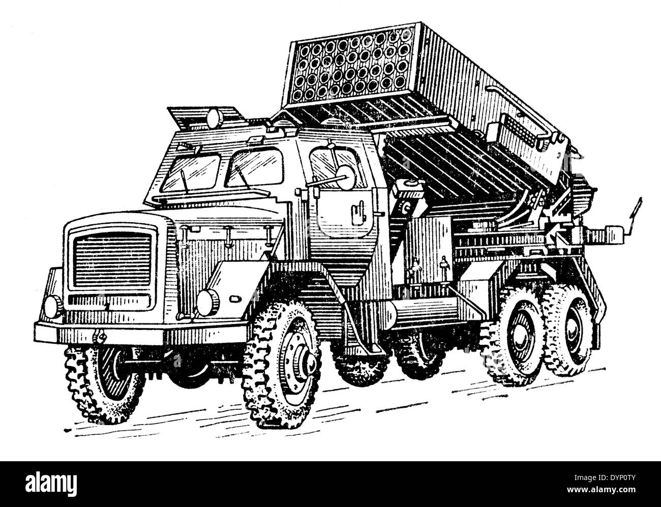 Light Artillery Rocket System (LARS), Multiple rocket launcher, Germany, 1960s - Stock Image