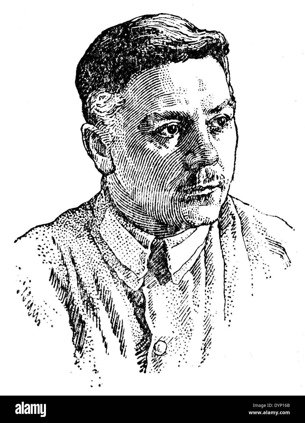 Kliment Voroshilov (1881-1969), Marshal of the Soviet Union, politician, illustration from Soviet encyclopedia, Stock Photo