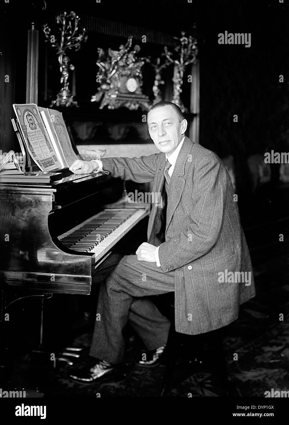 SERGEI RACHMANINOFF (1873-1943) Russian composer and pianist - Stock Image