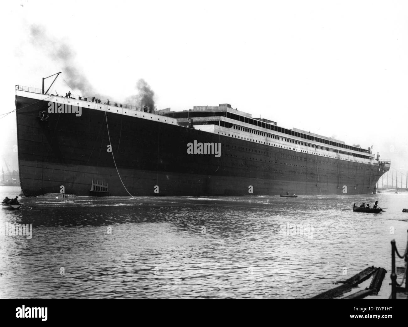 RMS TITANIC of the White Star Line launched at the Harland and Wolff shipyard in Belfast on 31 May 1911 - Stock Image