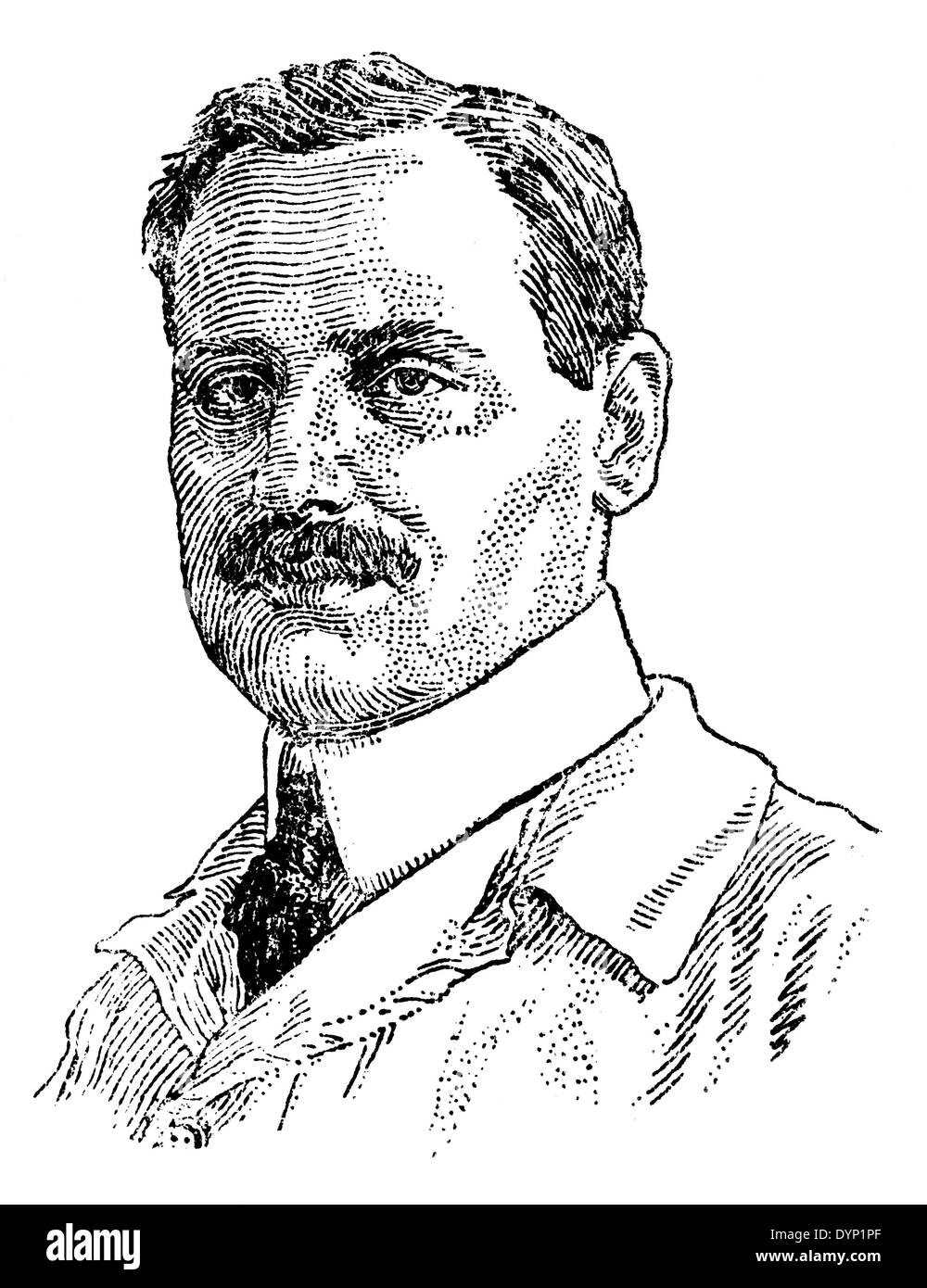 August Paul von Wassermann (1866-1925), German bacteriologist and hygienist, illustration from Soviet encyclopedia, - Stock Image