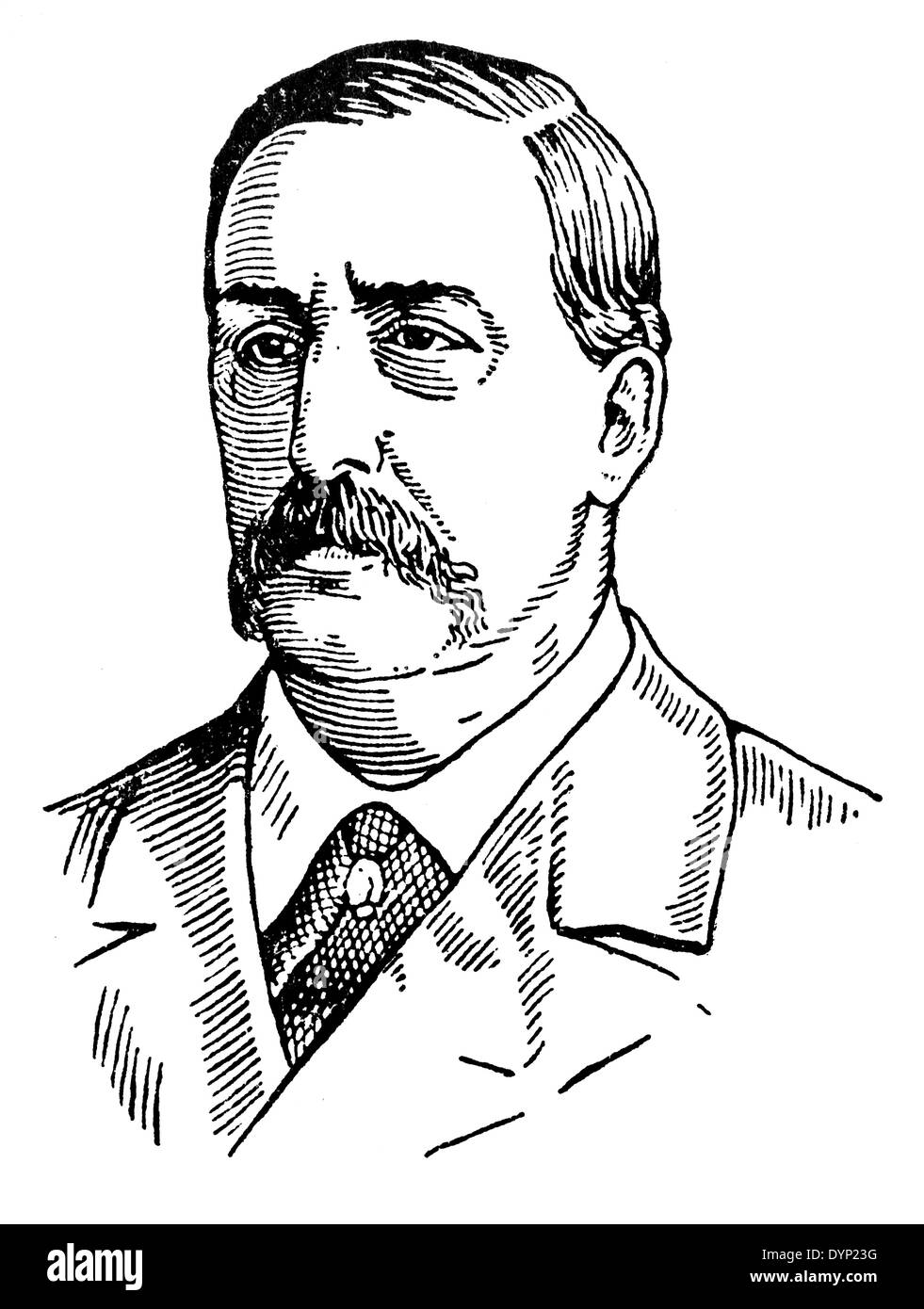 Alexander Borodin (1833-1887), Russian composer and chemist, illustration from Soviet encyclopedia, 1927 - Stock Image