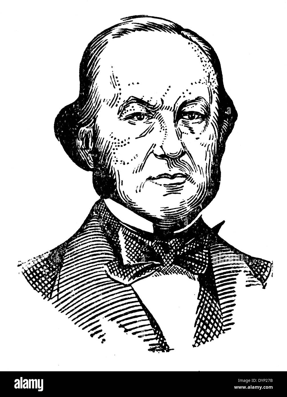 Claude Bernard (1813-1878), French physiologist, illustration from Soviet encyclopedia, 1927 - Stock Image