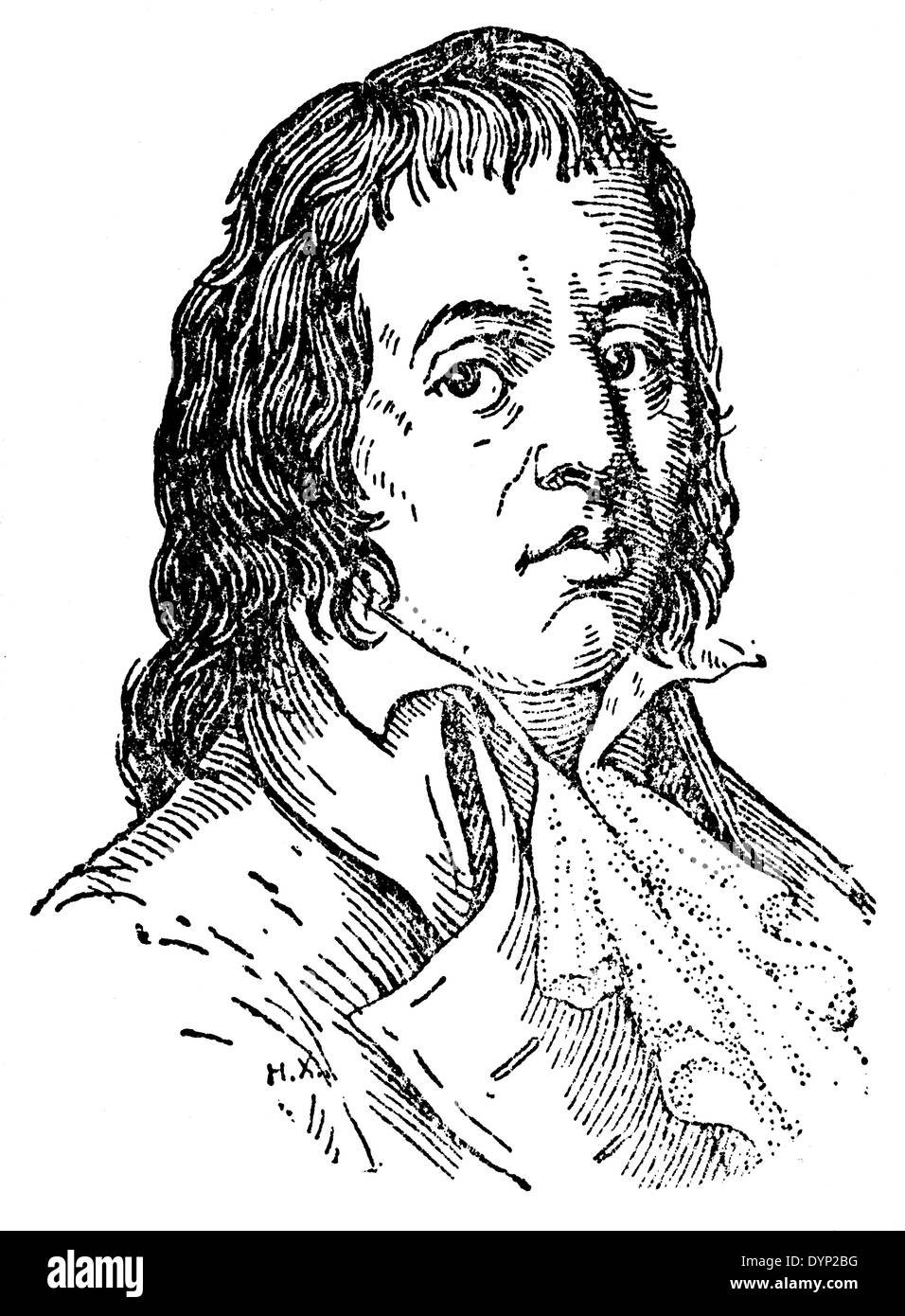 Francois Noel Babeuf (1760-1797), French political agitator and journalist, illustration from Soviet encyclopedia, 1926 - Stock Image