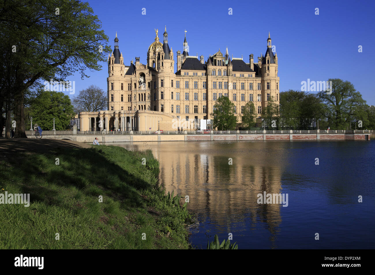 Schwerin castle, Mecklenburg Western Pomerania, Germany, Europe - Stock Image
