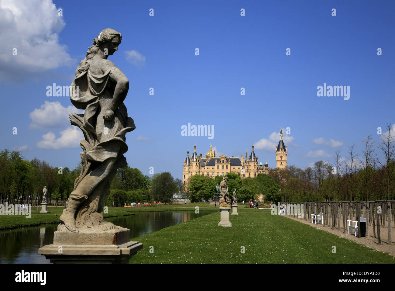 Schwerin Castle and Park, Mecklenburg Western Pomerania, Germany, Europe Stock Photo