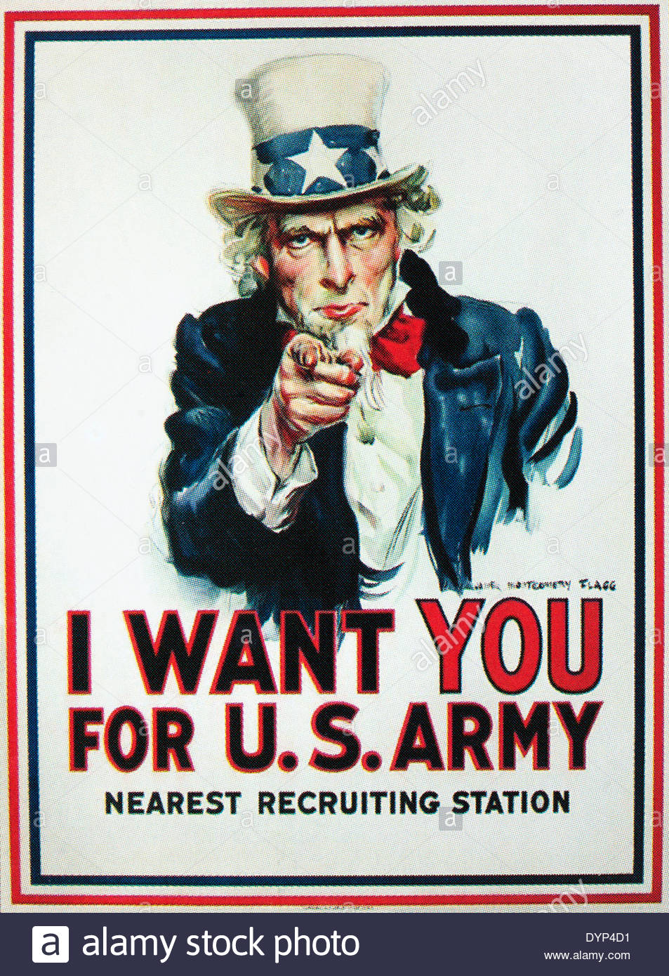 World war one recruitment poster issued in 1917 and reissued for ww2. EDITORIAL ONLY - Stock Image