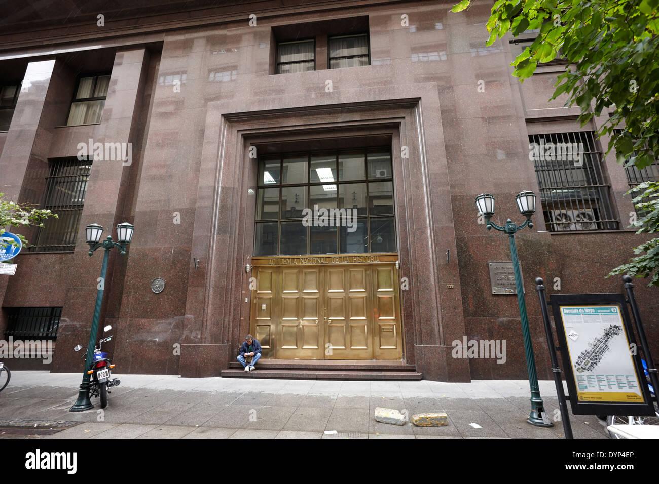 academia nacional de la historia Buenos Aires Argentina - Stock Image