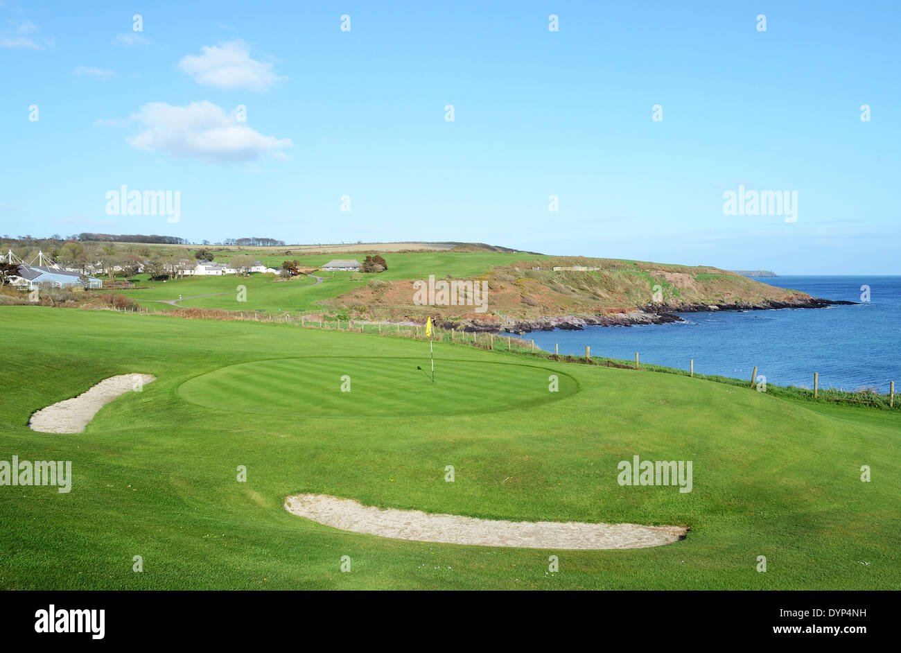 a golf course on the county cork coast in south west ireland - Stock Image