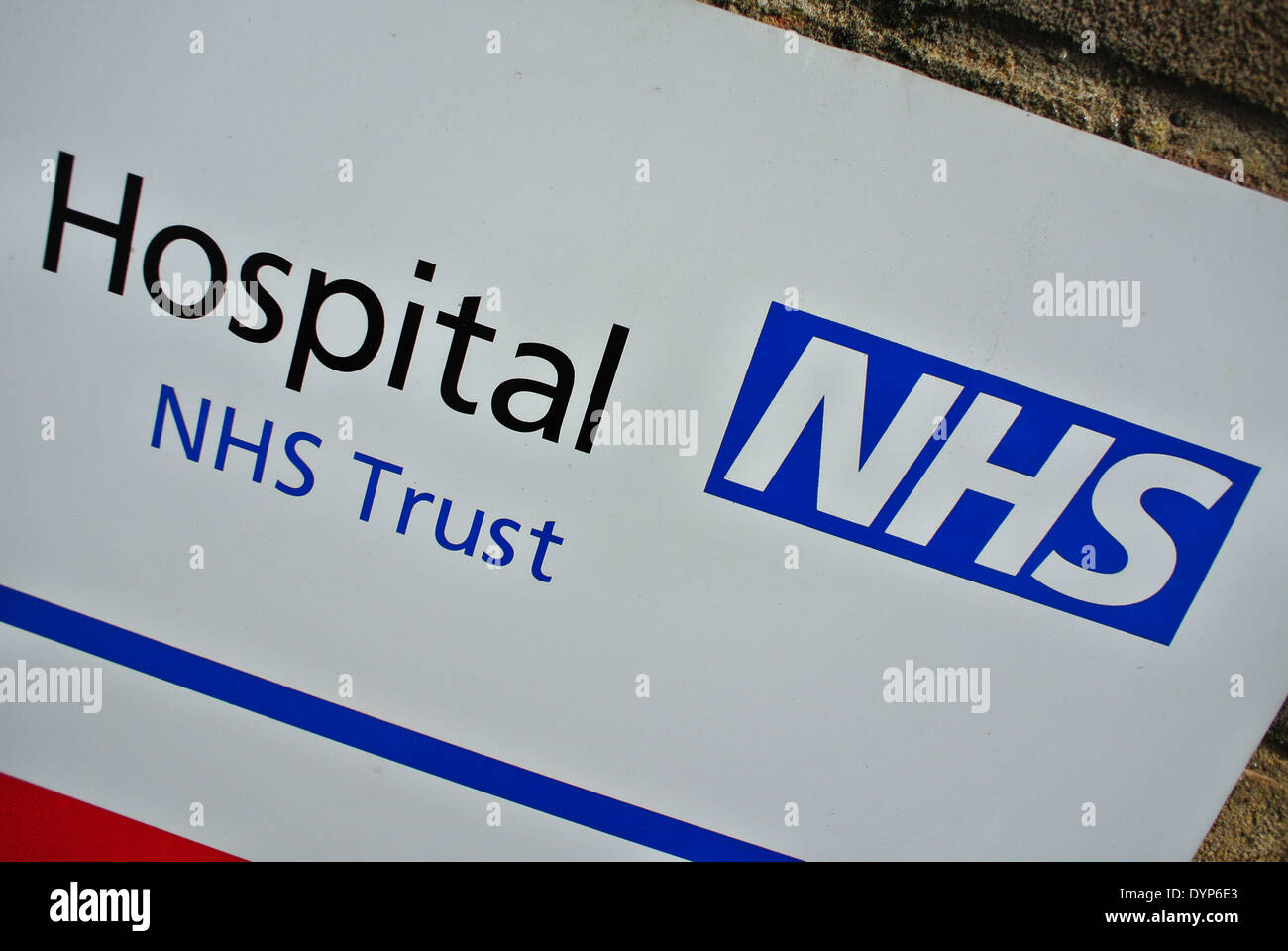 Hospital NHS Trust sign - Stock Image