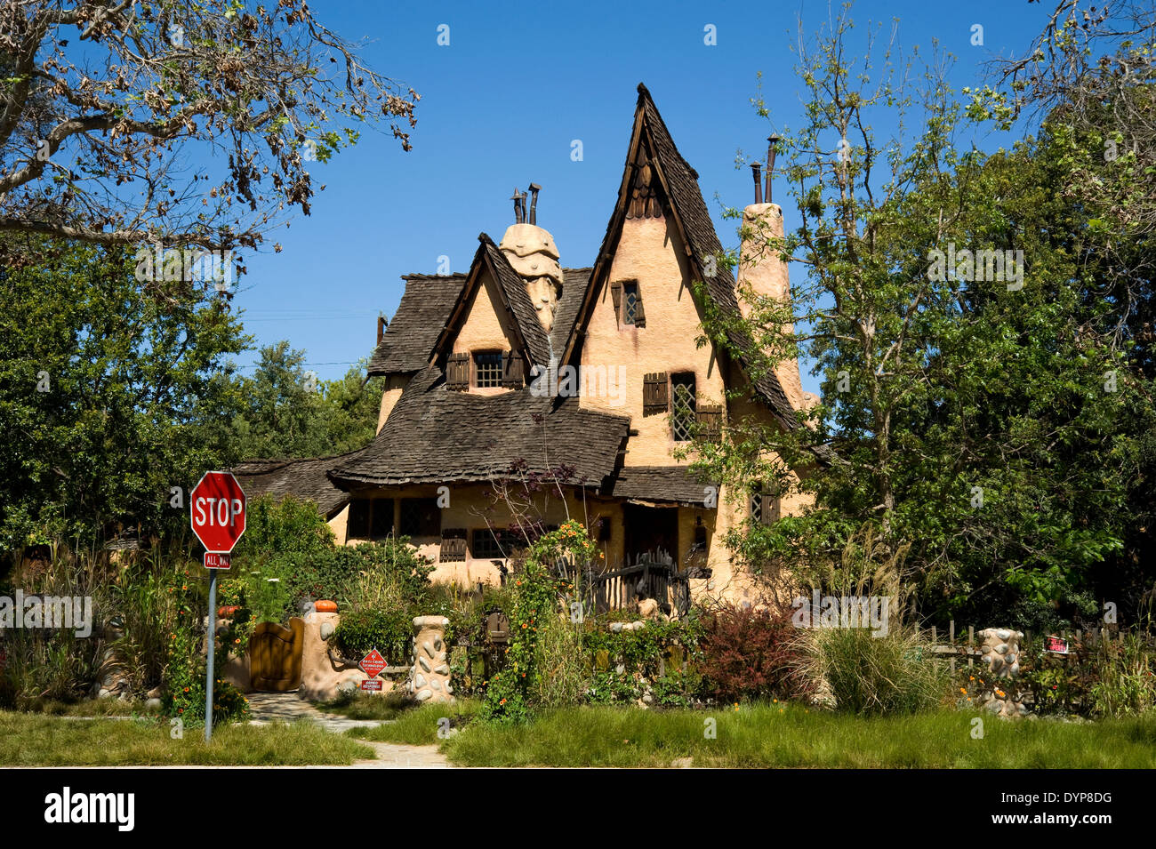 The Witch House in Beverly Hills, California - Stock Image