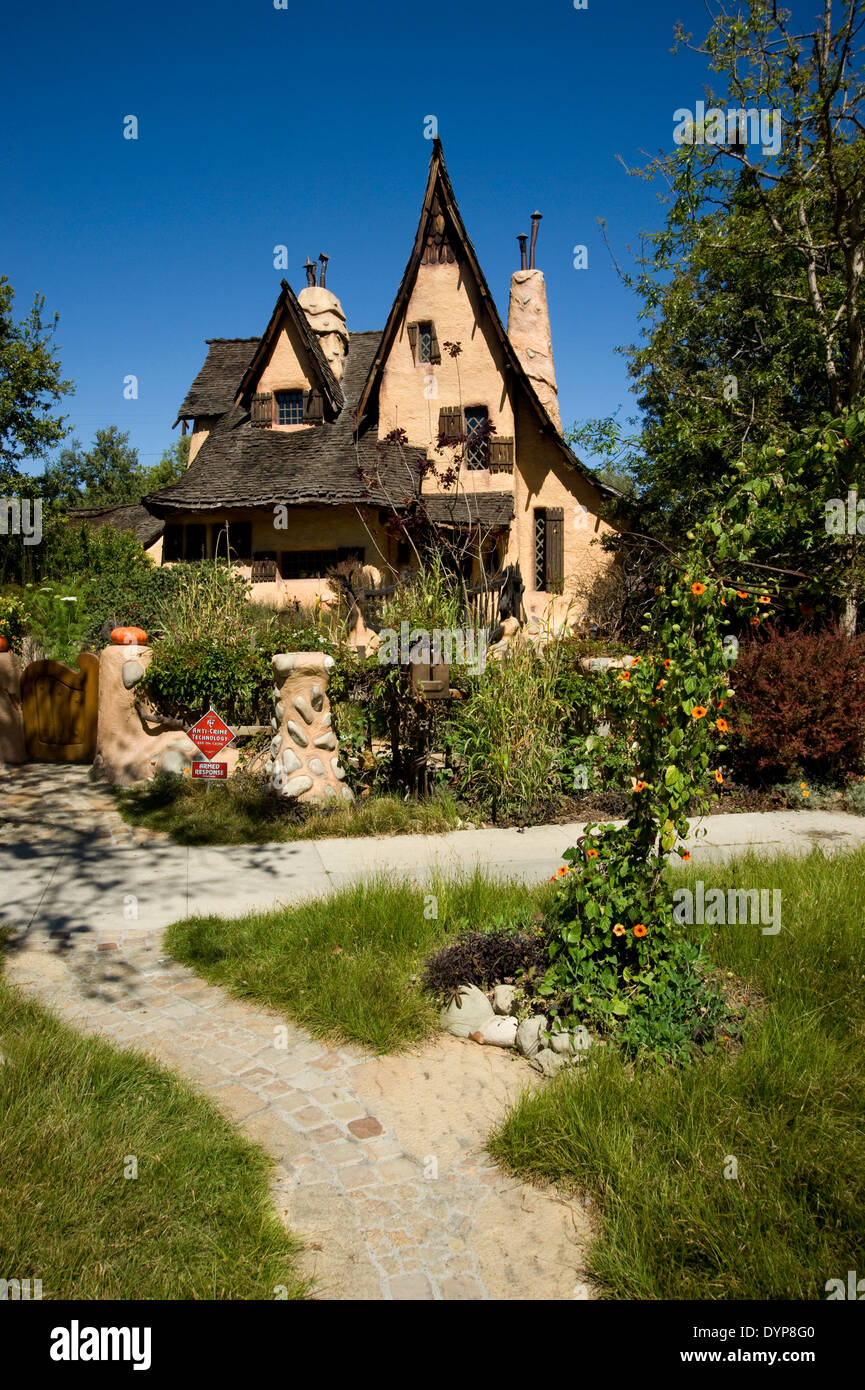 The Witch House in Beverly Hills - Stock Image