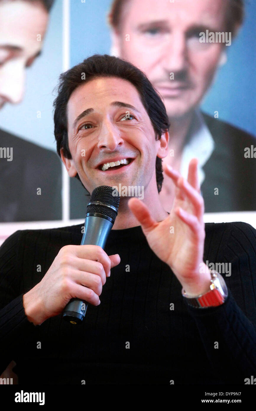 Beijing, China. 23rd Apr, 2014. Actor Adrien Brody speaks during a press conference for 'Third Person' at the 4th Beijing International Film Festival in Beijing, capital of China, April 23, 2014. © Zhang Yu/Xinhua/Alamy Live News - Stock Image
