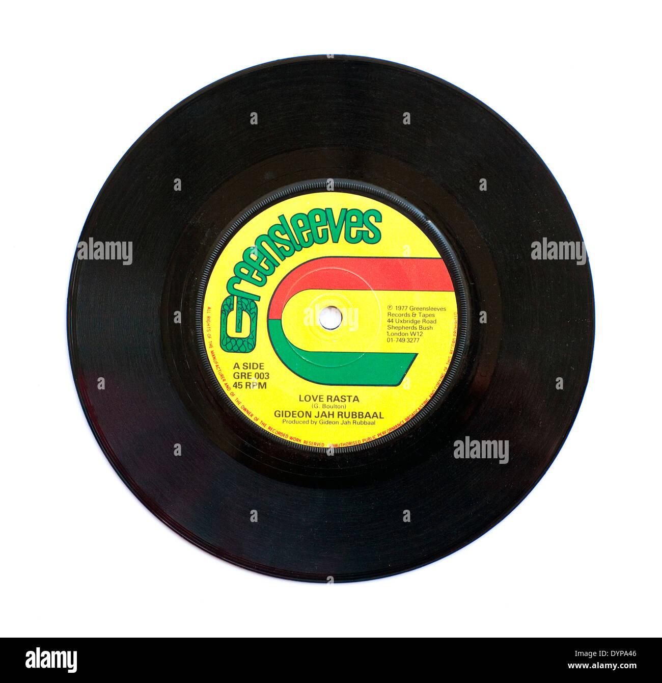 Gideon Jah Rubbal, Love Rasta, Greensleeves Records 1977 - Stock Image
