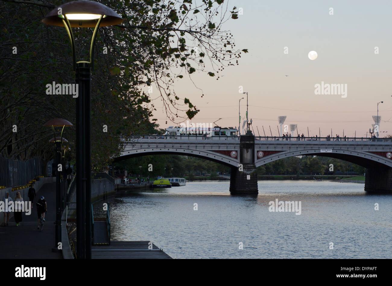 Princes Bridge Melbourne Victoria Australia AUS - Stock Image