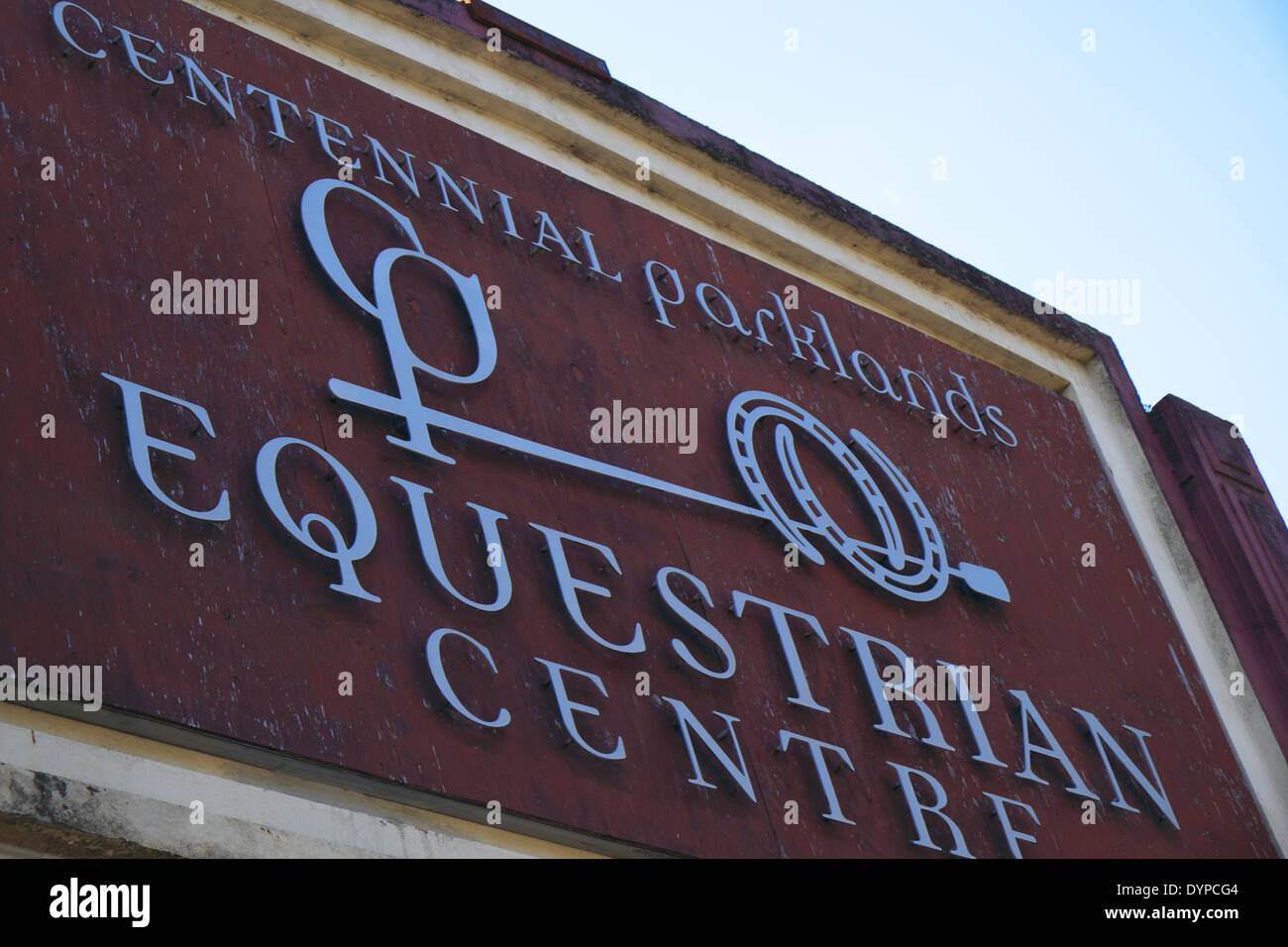 centennial park equestrian centre and horse stables, eastern suburbs,sydney - Stock Image