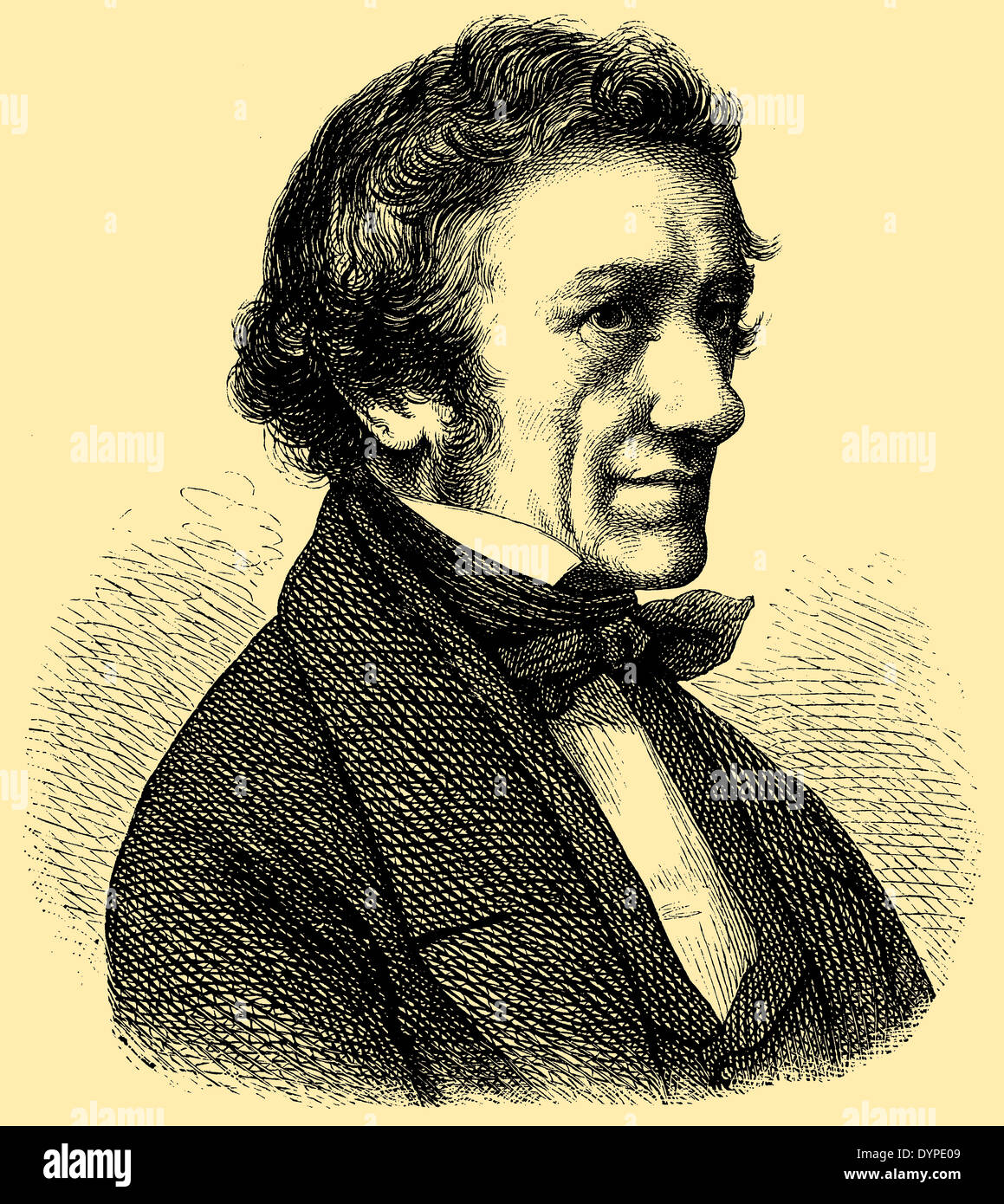 Ernst Rietschel (born December 15, 1804, died February 21, 1861) - Stock Image
