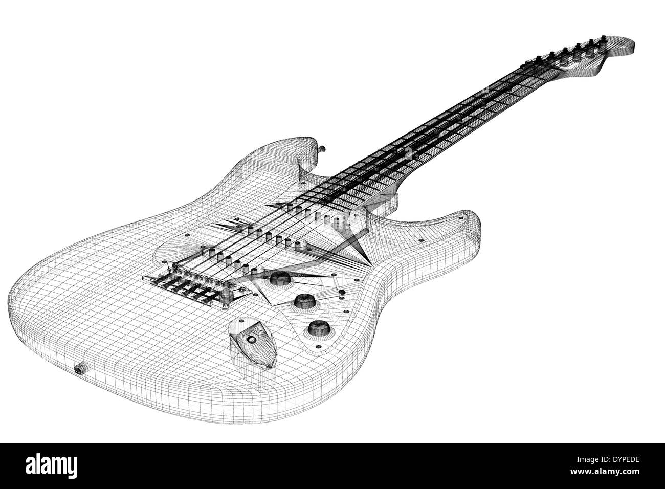 Electric Guitar 3d Model Body Structure Wire Stock Photo Wiring For Dummies