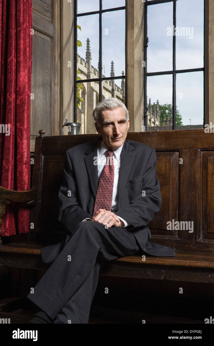 Lord Rees, Astronomer Royal, in the Master's Lodge at Trinity College Cambridge in April 2008 - Stock Image