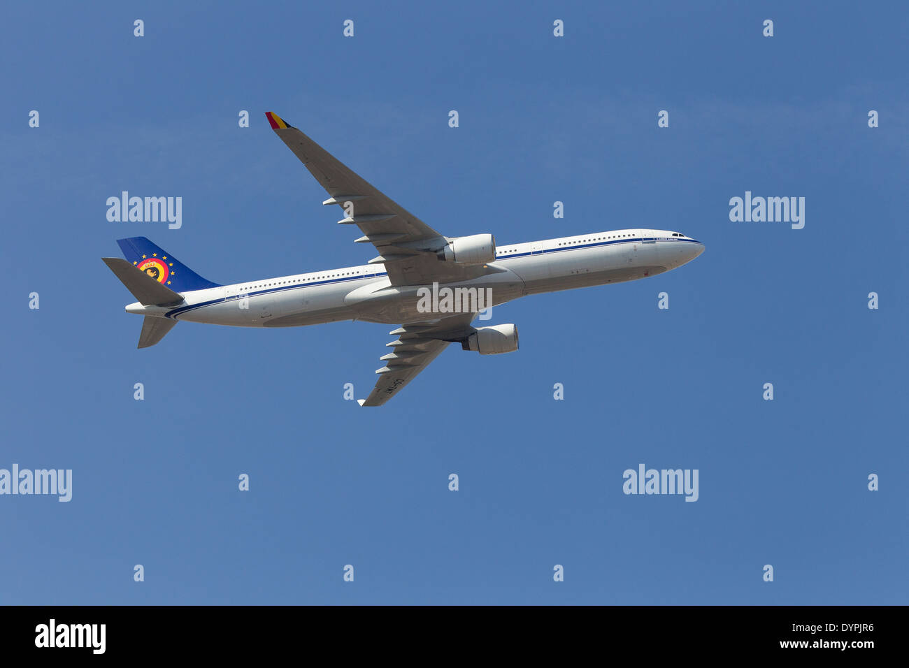 airbus A330-300 CS-TMT, The Air Component  COMOPSAIR, formerly Belgian Air Force - Stock Image