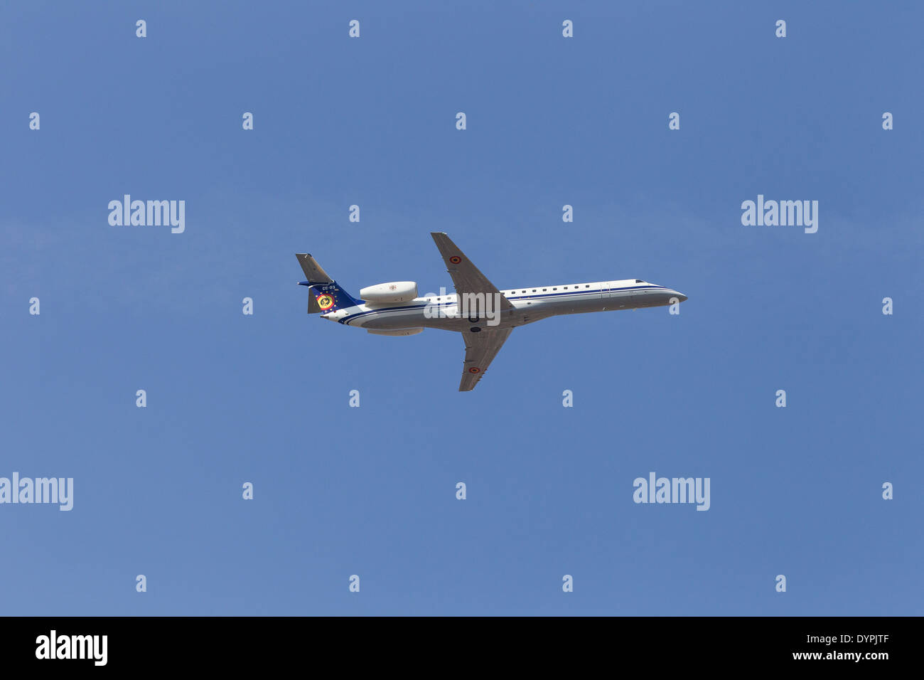 Embraer ERJ 145 The Air Component  COMOPSAIR formerly the Belgian Air Force is the - Stock Image