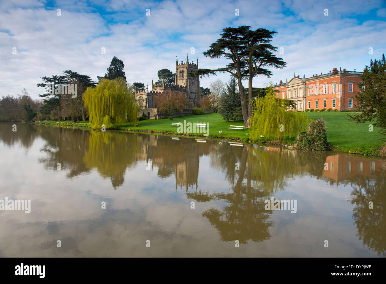 Reflections at Staunton Harold Hall in Leicestershire, England UK - Stock Image