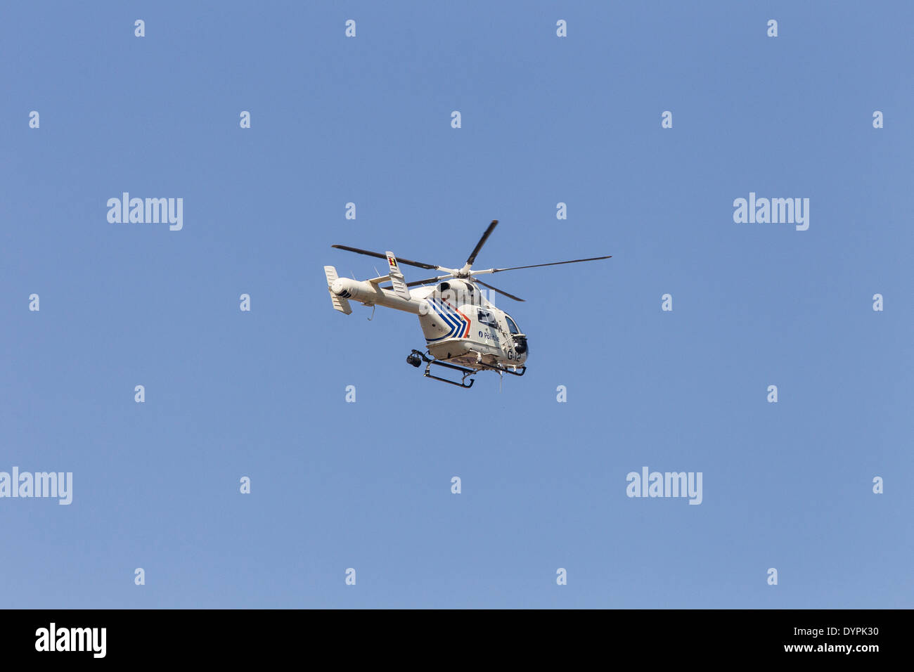MD 900 Explorer belgian police helicopter - Stock Image