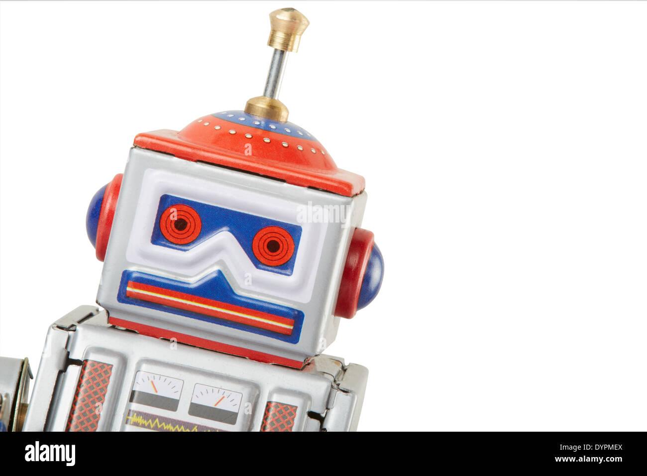 Robot vintage toy - Stock Image