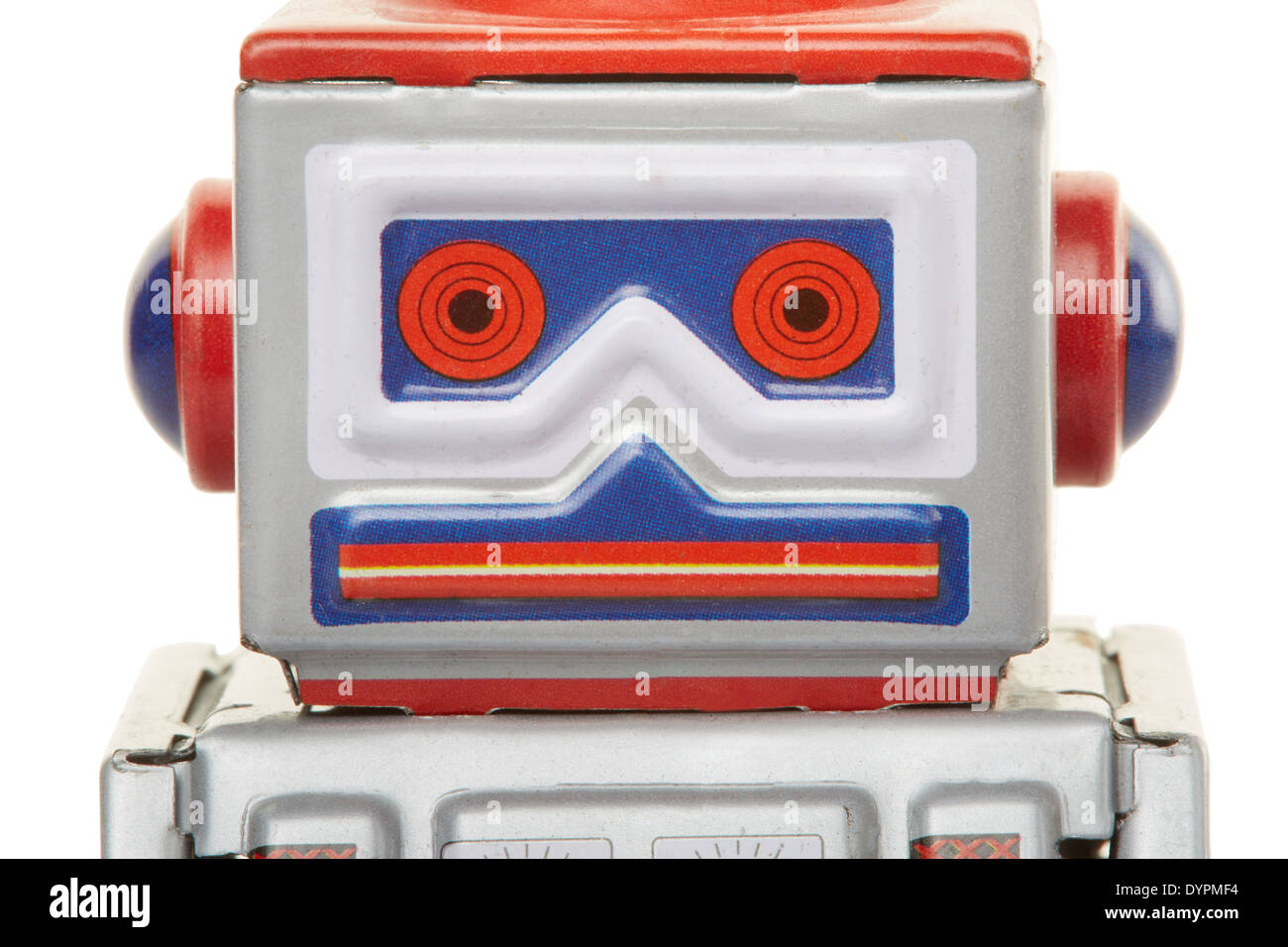 Robot vintage toy close up - Stock Image