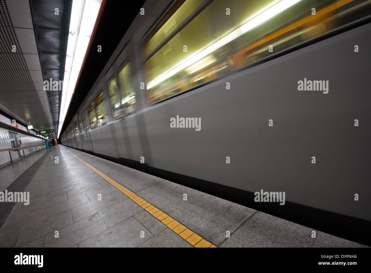Ubahn, Wien, Österreich Stock Photo
