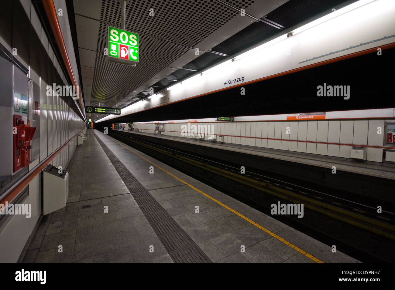Ubahn, Wien, Österreich - Stock Image