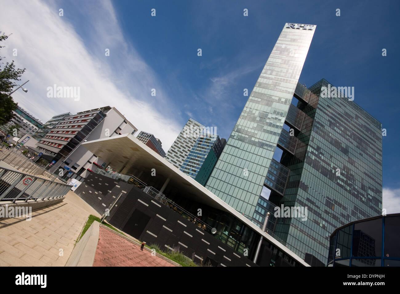 Twin Towers, Wienerberg, Vienna, Austria - Stock Image