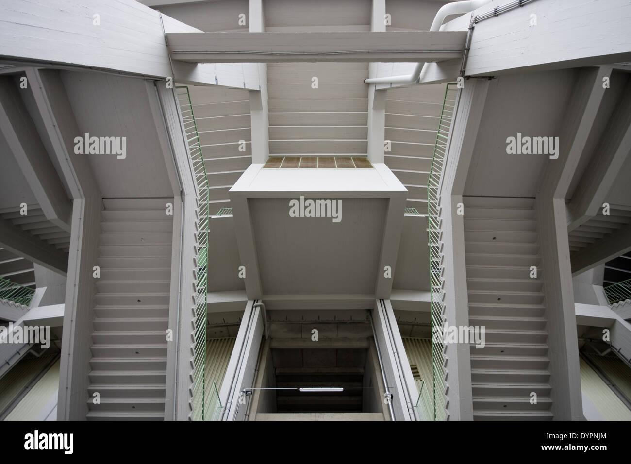 Stiegen, Stadion, stairs, stadium - Stock Image
