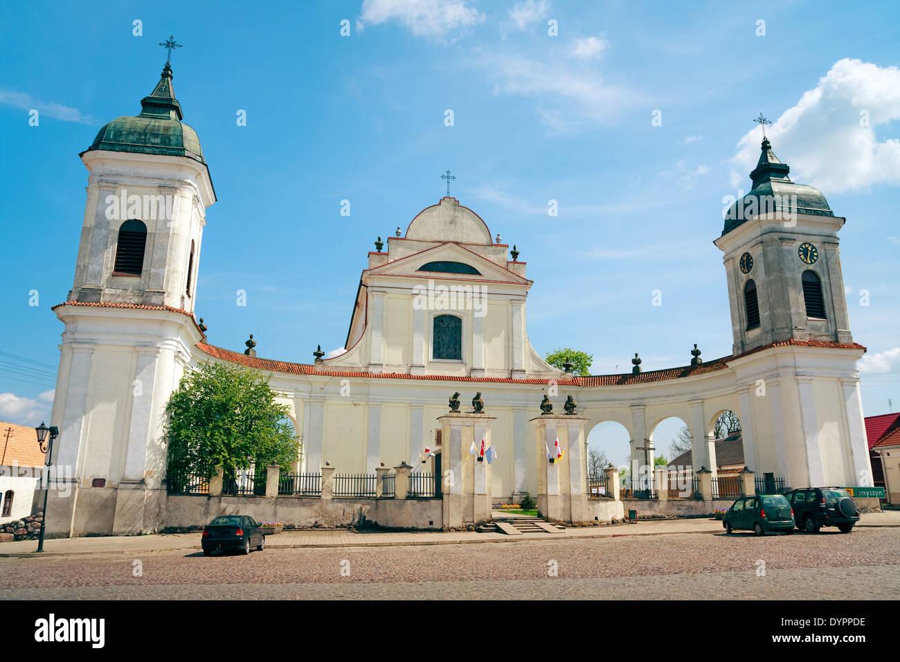Tykocin Town - baroque Church of the Holy Trinity Stock Photo