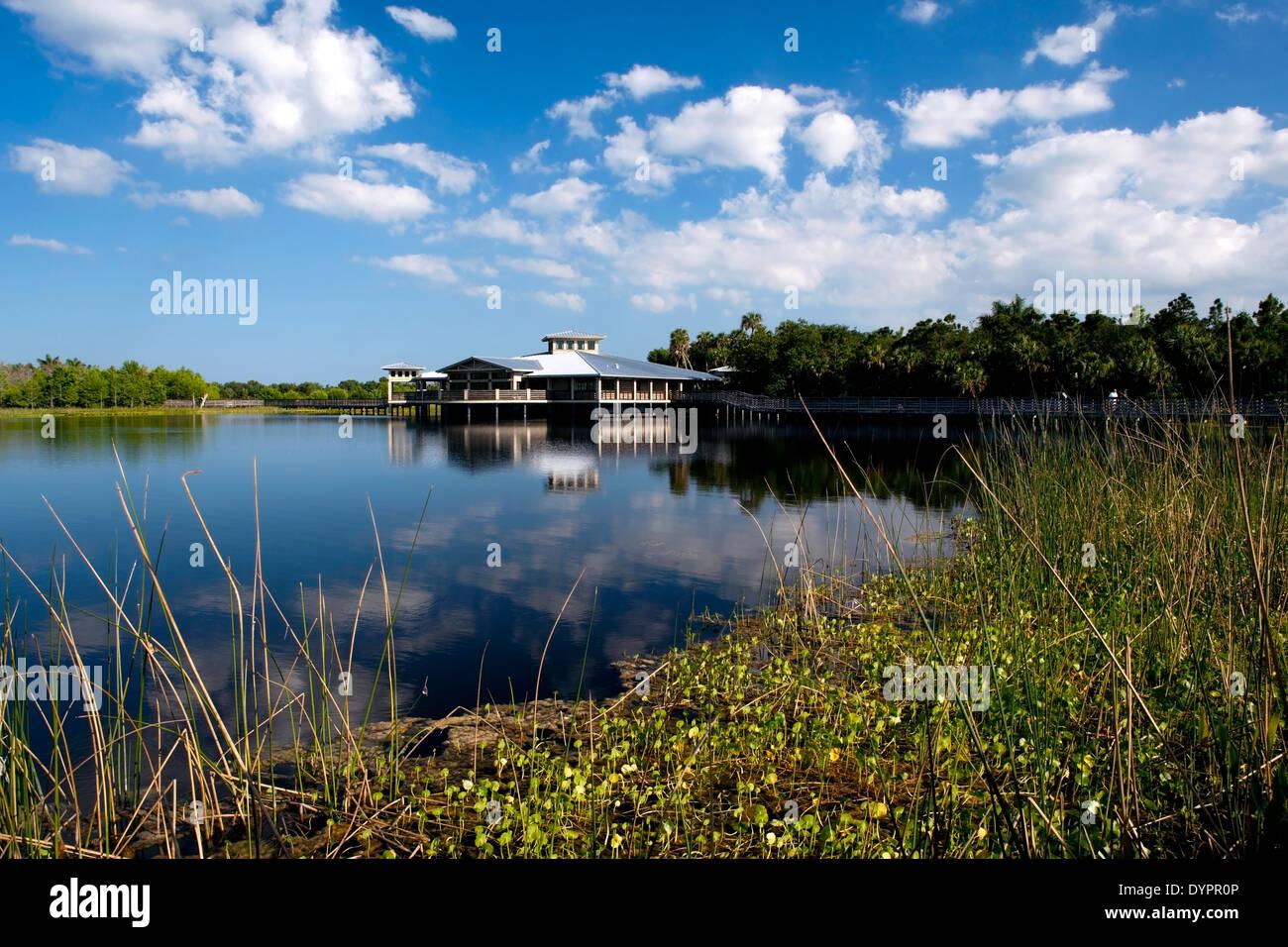 Interpretive Center at Green Cay Wetlands - Boynton Beach, Florida USA - Stock Image