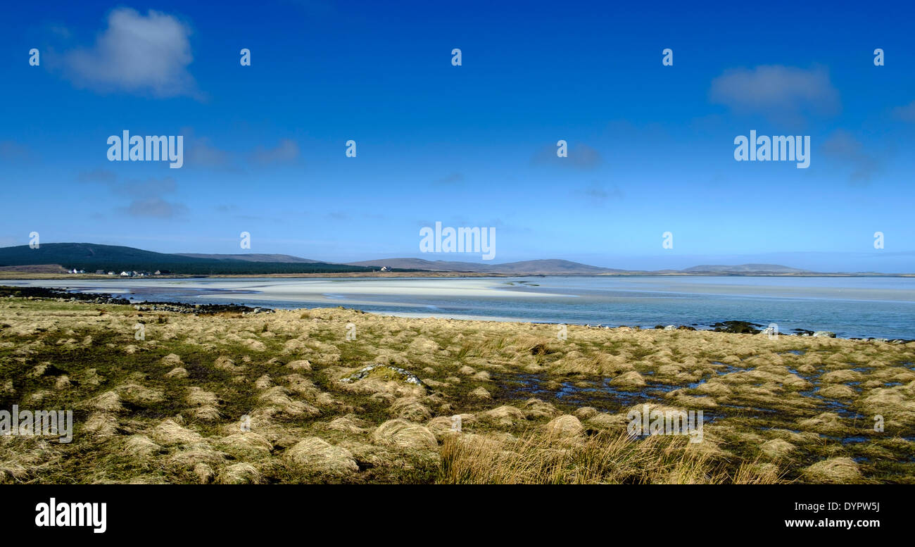 The beach at Middle Quarter, North Uist, Outer Hebrides, Scotland - Stock Image