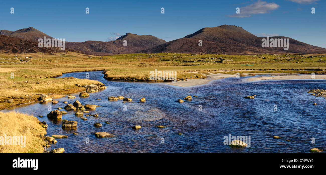 Landscape near Homore, Isle of South Uist, Outer Hebrides, Scotland - Stock Image