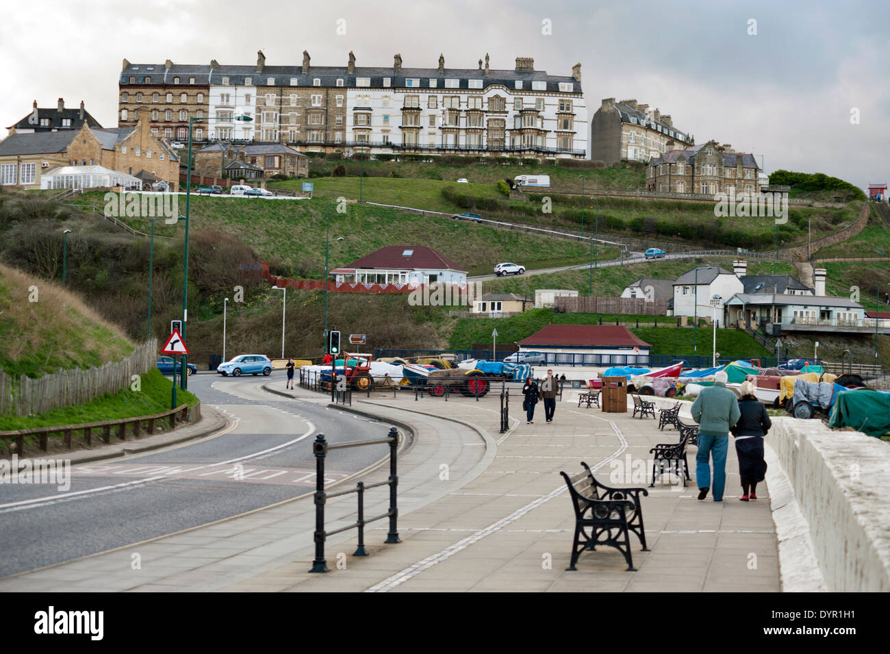 The seaside resort of Saltburn-by-the-Sea, Redcar and Cleveland, UK - Stock Image