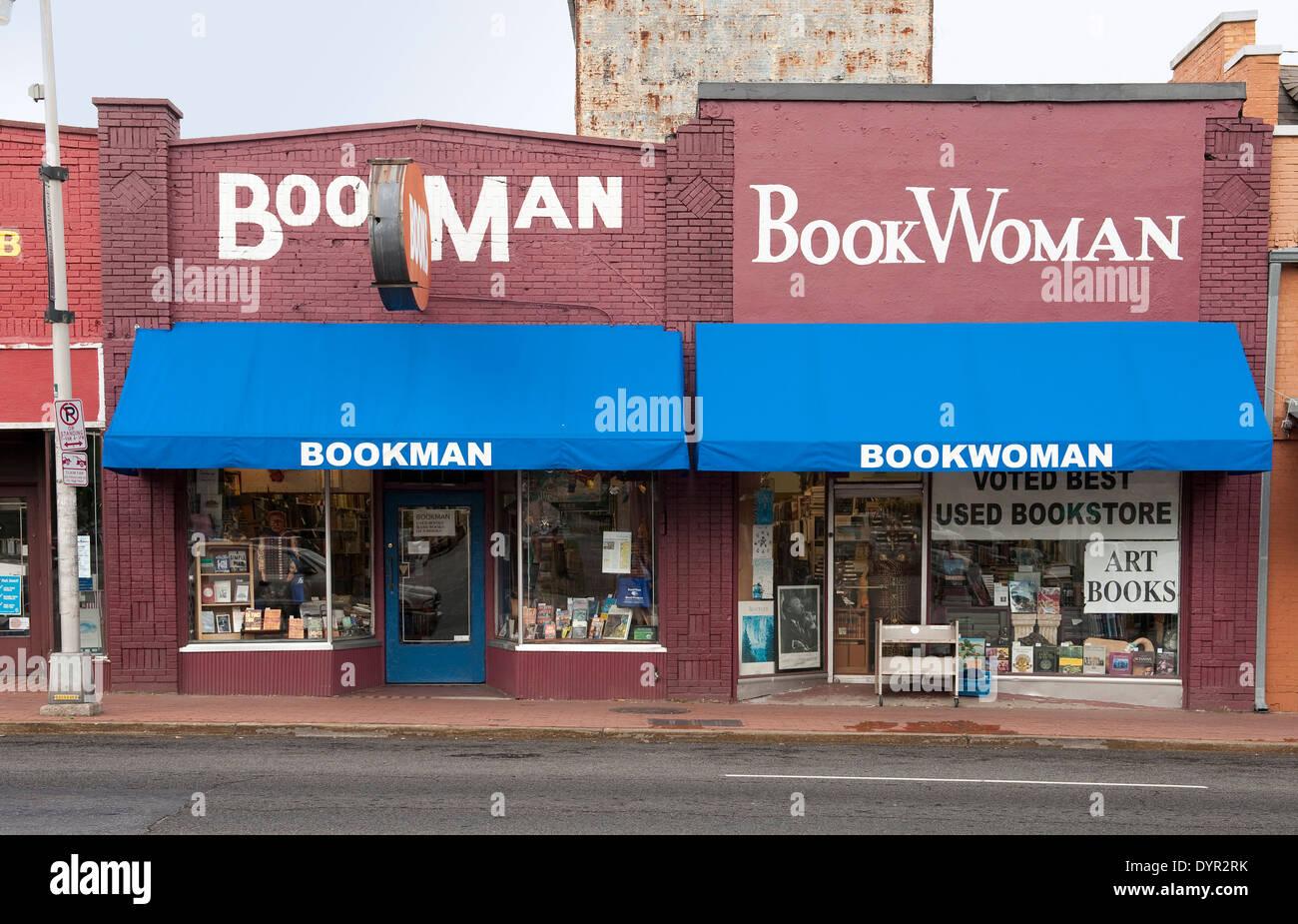 Bookman_Bookwoman Bookstore in Hillsboro Village, Nashville Tennessee - Stock Image