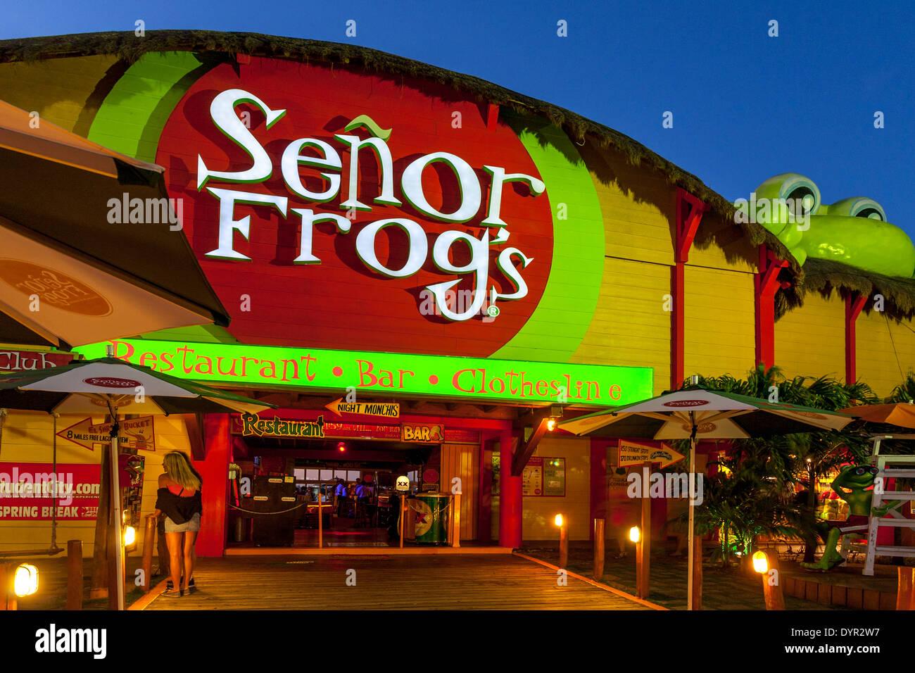 Senor Frogs Barrestaurant Cancun Quintana Roo Mexico Stock