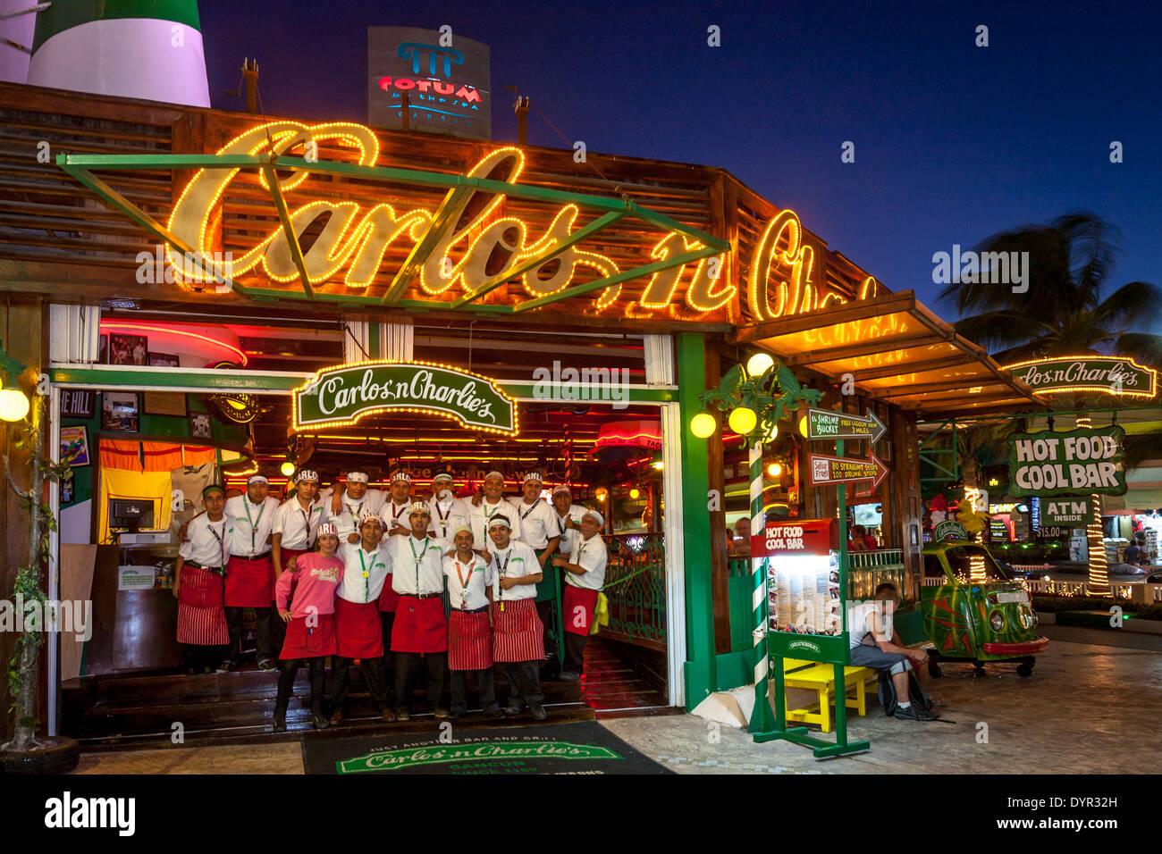 Carlos N Charlies Barrestaurant Cancun Quintana Roo Mexico Stock