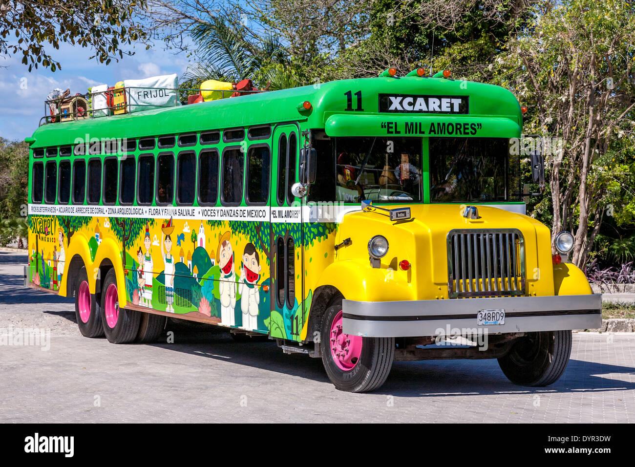 Xcaret Eco Archaeological Park Tour Bus Quintana Roo