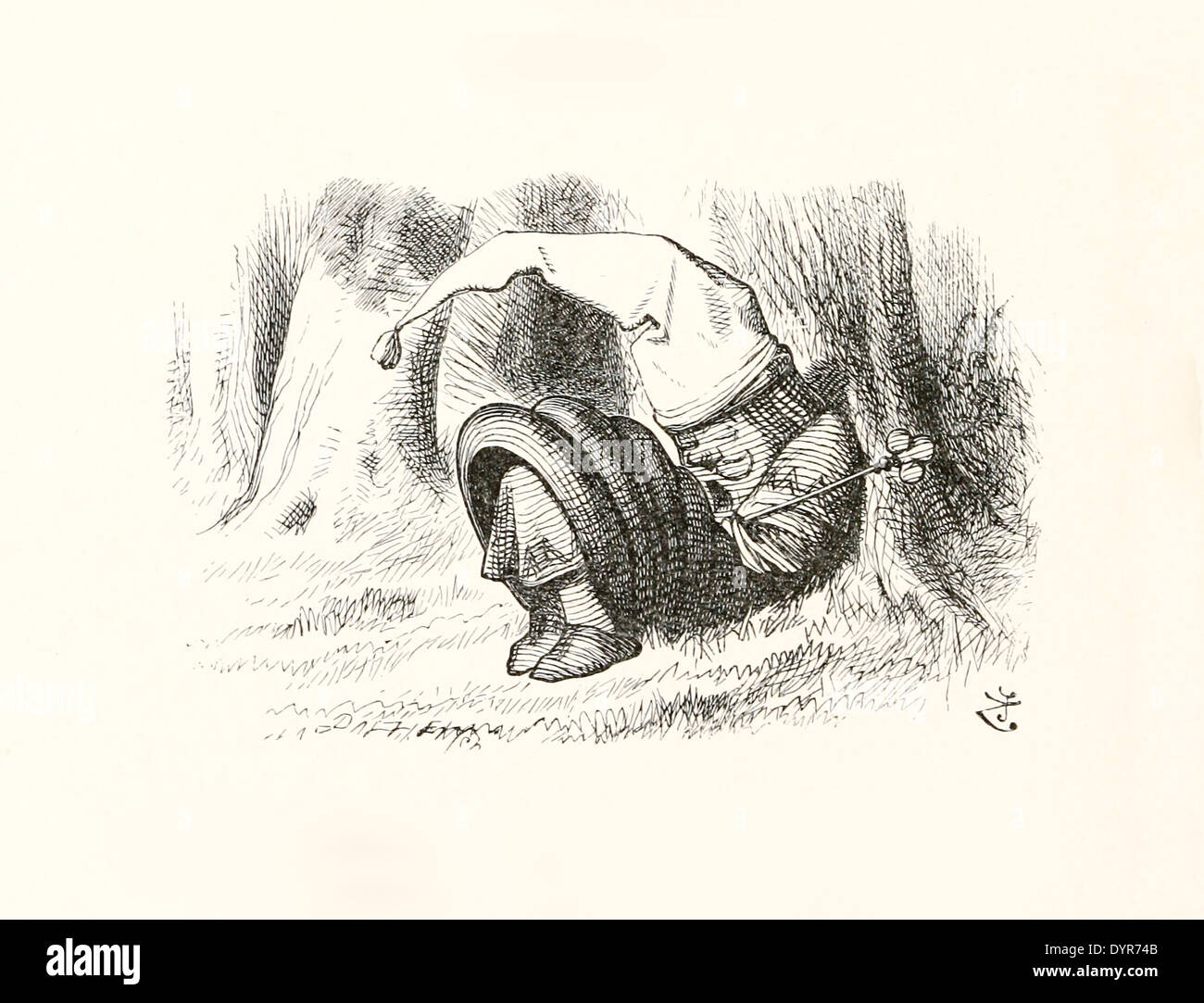 John Tenniel (1820-1914) illustration from Lewis Carroll's 'Through the Looking-Glass' published in 1871. - Stock Image
