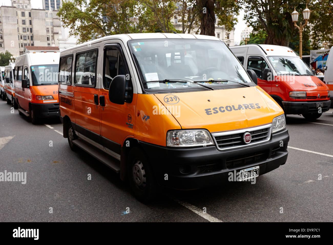 escolares school minibus Buenos Aires Argentina - Stock Image