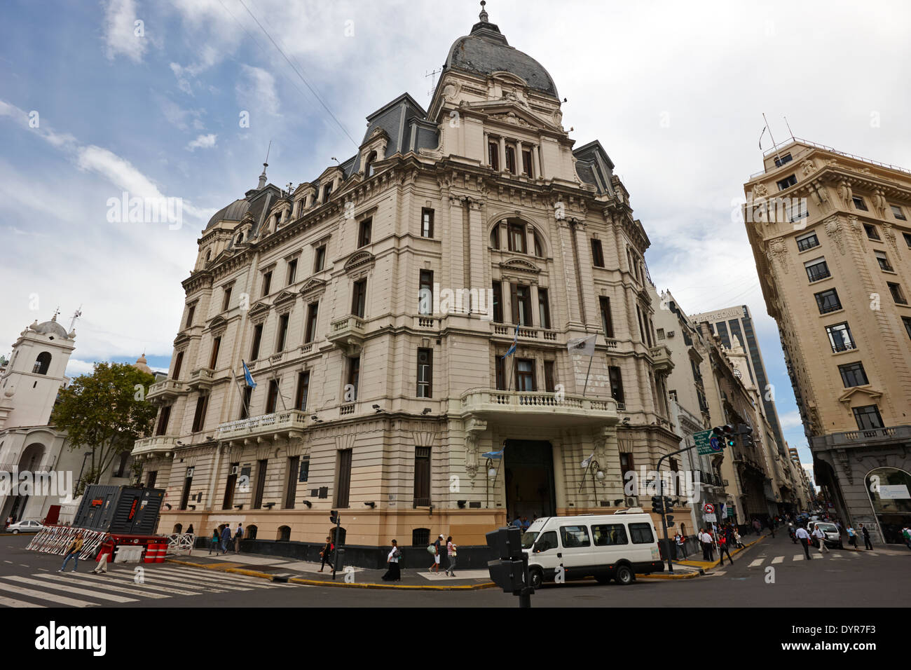 Buenos Aires city hall on plaza de mayo Argentina - Stock Image