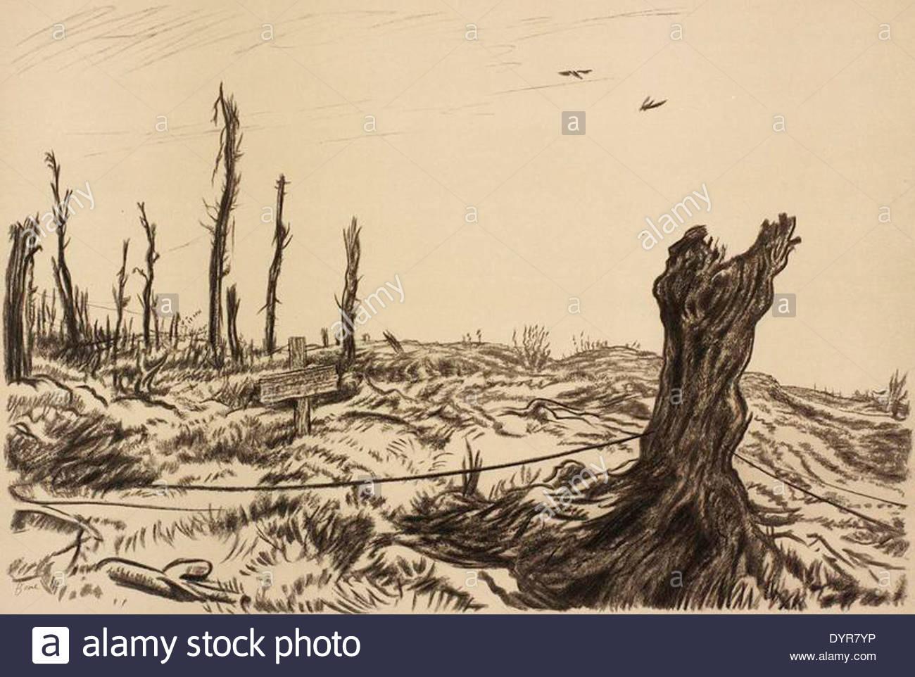1278 War Drawings by Muirhead Bone-'inconnu' Art.IWMREPRO00068460