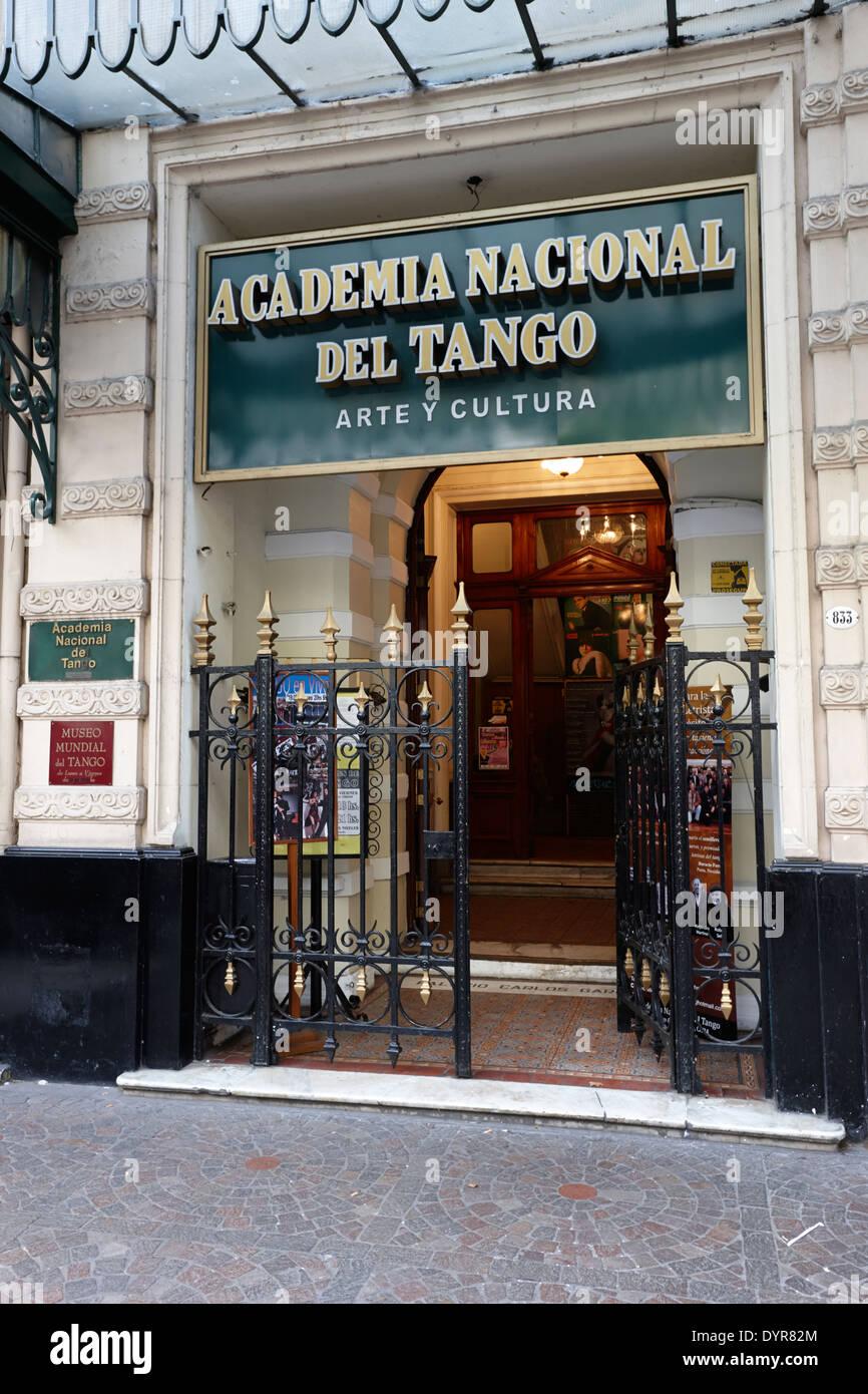Academia Nacional del Tango Buenos Aires Argentina - Stock Image