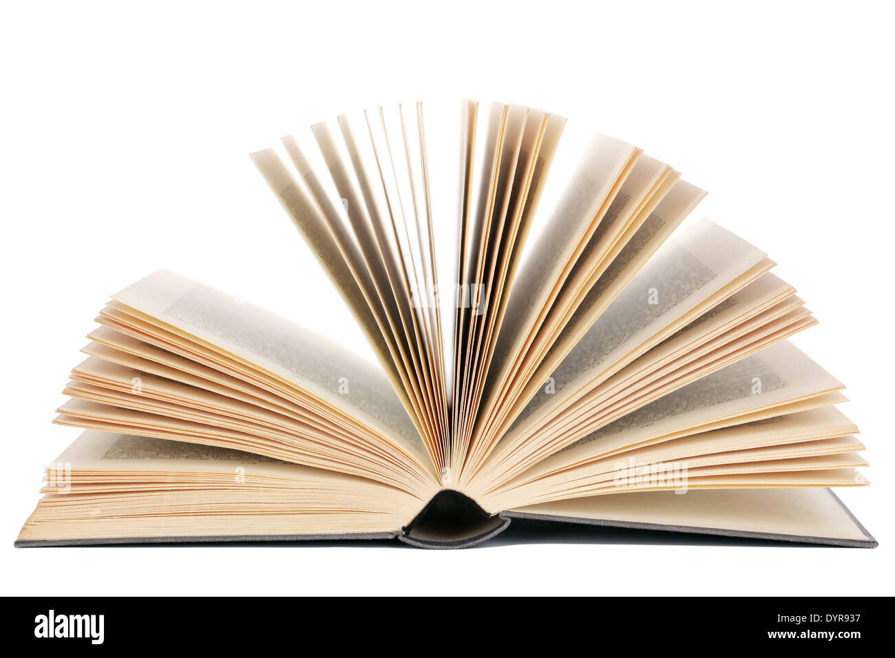 Opened book, isolated on a white background Stock Photo